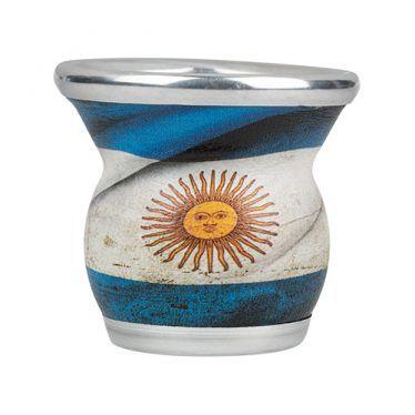 Mate con bandera de argentina