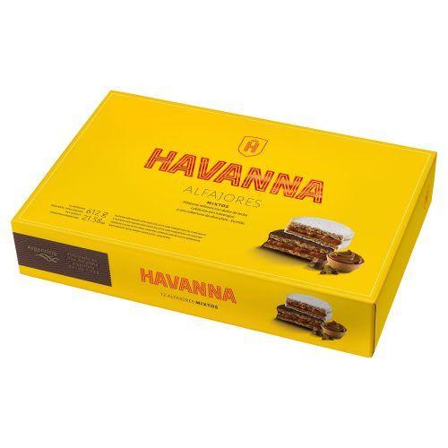 Alfajor Havanna Mixtos Chocolate negro y merengue caja grande 12
